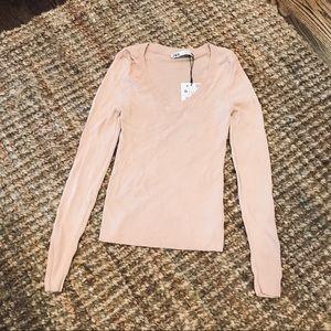 Zara pink blush scoop neck top NWT